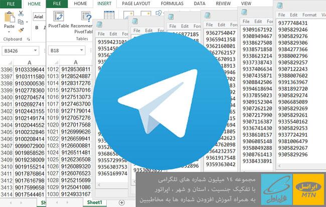 بانک شماره های تلگرامی
