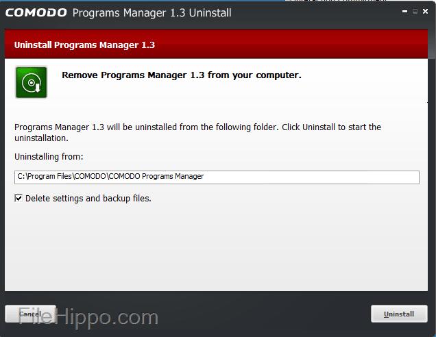 Comodo-Programs-Manager