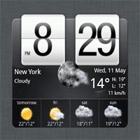 HTC Home Apis 3.0 نرم افزار نمایش ساعت و وضعیت آب و هوا بر روی دسکتاپ
