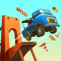 Bridge Constructor Stunts 1.4 بازی پل سازی خارق العاده برای موبایل
