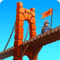 Bridge Constructor Medieval 1.5 بازی پل سازی برای موبایل
