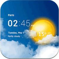 Transparent clock & weather 3.00.06 ساعت و آب و هوا برای موبایل
