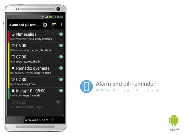 Alarm and pill reminder