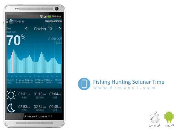 Fishing & Hunting Solunar Time