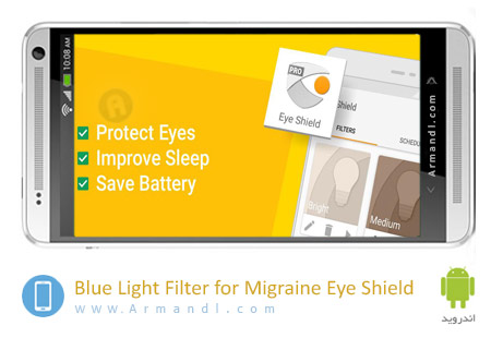Blue Light Filter for Migraine Eye Shield