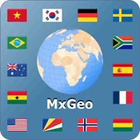 World atlas & map MxGeo 5.0.1 برنامه اطلس جهانی برای اندروید