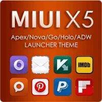 MIUI X5 HD Apex Nova ADW Theme 3.4.0 تم سریع و زیبای اندروید