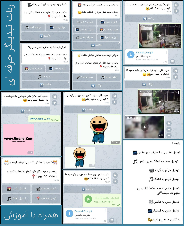 ربات تبدیل گر تلگرام