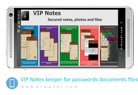 VIP Notes keeper for passwords documents files